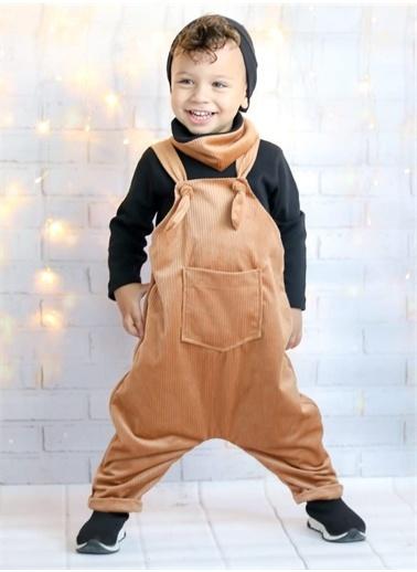 Riccotarz Erkek Bebek Kadife Nobile 4 Lü Karamel Tulum Renkli